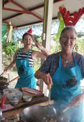 Enjoying a very different Christmas Day in Chiang Mai -  learning to cook and enjoy Thai food with my grand daughter visiting from Australia.