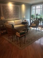 I love decorating. This is the living room of my condo.