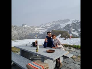 My boyfriend Andrei and I went hike to the top and had some nice swiss white wine soup! It tasted amazing.