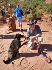 This wonderful companion is Lily.  We got along famously.  Lily is such a wonderful pet to care for and have along on trail hikes.