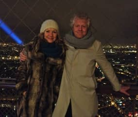 Tam & Simon - top of the Eiffel Tower. It's incredible at night! It was planned to be demolished in 1909 - thank goodness it wasn't!