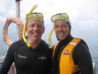 Scuba diving on the great barrier reef.