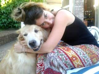 With My aunt´s dog, Lola.