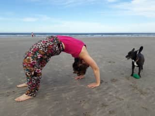 A few months ago I started doing yoga and I love it