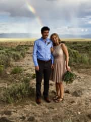 Our wedding outside of Taos
