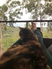 Sxonga and I enjoying the lovely view