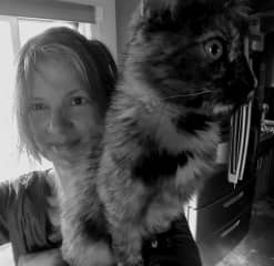 Me and Minnie the rescue kitten