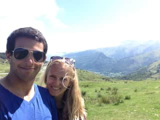 Shai and Cat in the Pyrenees