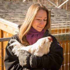 Making friends at Unity Farm Sanctuary, MA (USA)