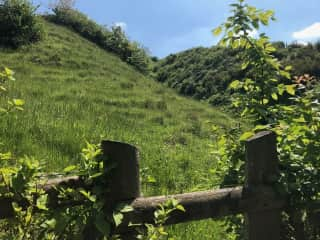 Over the garden stile and up on the Downs