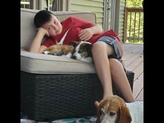 Just relaxing, enjoying porch sitting