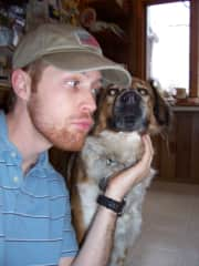Here's a pup Steve house sat for years ago.