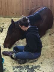 Stella with her horse, Olly