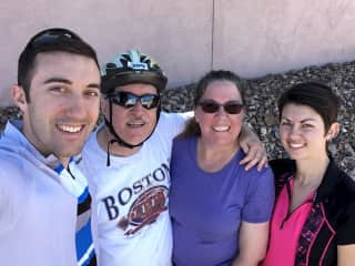 Just finished cycling with our son and his wife in Tucson, Arizona.