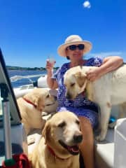 Cruising on the 'Lab Boat'  😊