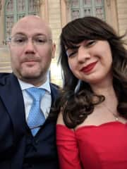 Nathaniel and Celina at a wedding in Las Vegas, Fall 2018.