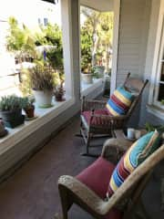 Front balcony of our recently sold beach home.