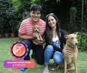 Lu&Mati (with our dogs Almóndiga and Tina)