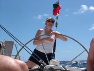 Sailing a boat in the Sea of Cortez