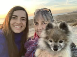 My mom and me and our dog Teddy