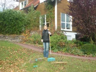 Andrea gardening