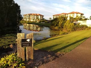 Where we live - Vardon Point Villas Pelican Waters, Sunshine Coast, Queensland. Adjacent to Sebel Townhouse and Greg Norman designed golf course.