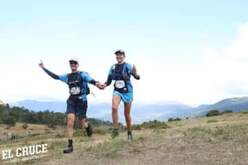 Wouter & Sonia finishing the second stage of the El Cruce ultramarathon in Patagonia