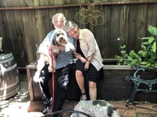 Robert, Carol, Dom & Annie in California