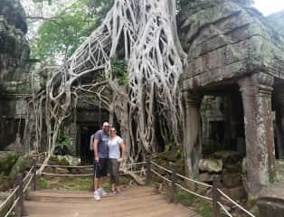 Orla and I in Angkor Wat, Cambodia