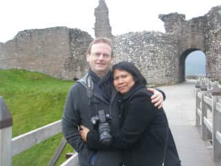 Doug and Vatcharee at Urquhart Castle