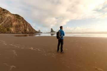 Sergio in Anawhata Beach, NZ