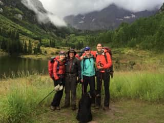 Hiking in Colorado with my friends and their pets :)