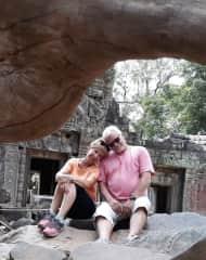 Jan and Chris @ Angkor Wat