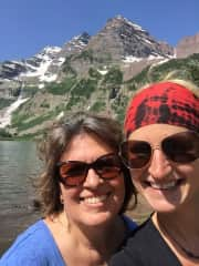 Robin & daughter hiking in Colorado