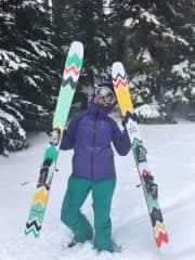 I love to ski!
