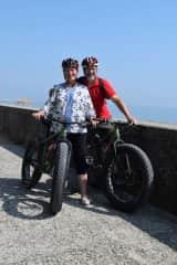 Biking in Venice.