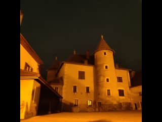 this is the Vesancy Chateau, a gorgeous old building in the village. it's about 50 metres from the house