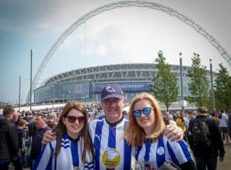 Phillip and our girls - SWFC