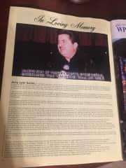 My late husband Jerry Carter, bio and obit