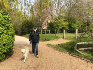 Riccardo and Cookie in Hunston, England