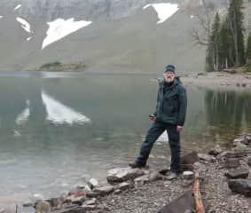 Edwin at Crypt Lake ...parks patrol