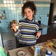 Cooking at an artist residency called BetOnest in Stolpe, Germany