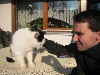 This is me and my cat Mimosa before