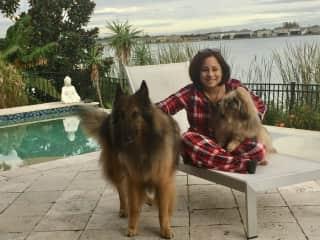 Nereyda with Austin & Harley at a sit in Groveland, Fl
