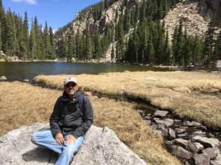 Carlos hiking