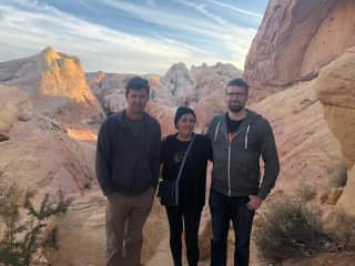 Hiking with my sons, Valley of Fire, Nevada