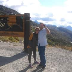 Karl and Alison on a trip to Alaska