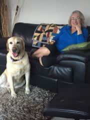 Di with a happy pet-sit - G'day Roufus!!!