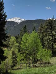 View of Pikes Peak from dinning room window