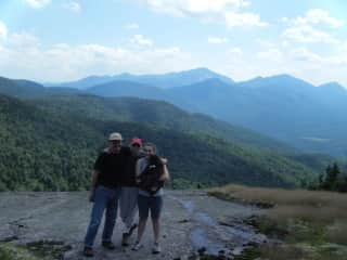 Mark, Chris, daughter Aaryn, and our dog, Adele, on an Adirondack mountaintop, NY, USA, 2009